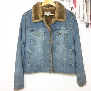 Marvin Richards fur lined jean jacket Sherpa M